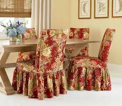 chair covers for home. Download Skirting Floral Dining Room Chair Slipcovers Covers For Home