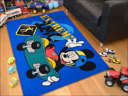 kids mickey mouse skate board rug