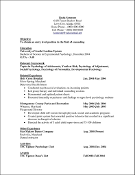 psychology sample resume