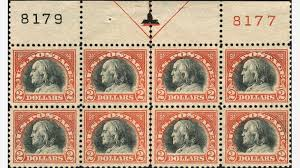 essay realizes at regency superior chicagopex auction a rare never hinged mint plate block of the united states 1918 franklin 2 orange red and black stamp went for 17 400 at the chicagopex 2015