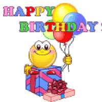 Image result for birthday balloon emoticons
