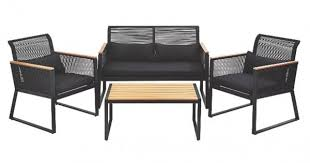 Noir <b>4 Piece Garden</b> Sofa Set