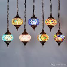 bohemia colorful glass corridor pendant light country rustic mosaic balcony hallway hanging lamp turkey pendant lighting fixture ceiling lamp shades lantern
