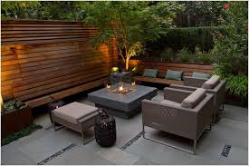 white modern outdoor fireplace