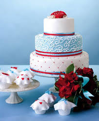 Cakes Red White Blue Wedding Dresses Resource
