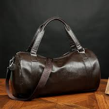 men s leather pu large vintage travel gym weekend overnight bag duffle handbags black brown