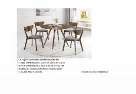 4 seater solid wood round dining table set furniture decoration for in kl city kuala lumpur