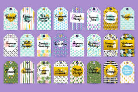 Summer Gift Tags Summer Gift Tags By Anna_leni Thehungryjpeg Com