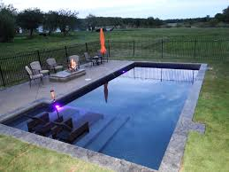 rectangular pool designs homesfeed newest simple with furniture