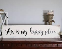 <b>My happy</b> place sign   Etsy