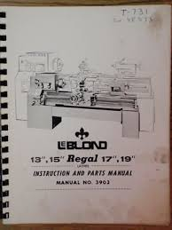 leblond instruction and parts manual bull  leblond 13 15 17 19 instruction and parts manual 2 2 of 2 see more