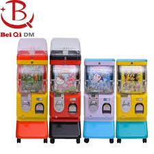 Gashapon Vending Machine Custom Coin Operated Gumball Vending Candy Gashapon Dispenser Toy Bouncy