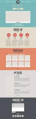 portfolio website templates psd css author retro portfolio template psd