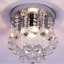 flush mount crystal chandelier ceiling fan light design hallway kid living room