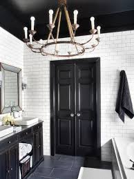 timeless bathroom in black and white