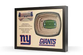 Giants Metlife Stadium 3d Seating Chart New York Giants Metlife Stadium 3d Wood Stadium Replica 3d Wood Maps Bella Maps