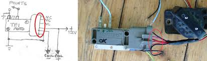 reliable ignition amplifiers a question for the old gits page i want to use the ford tfi module points but i have a questions the diagram is the same as the photo and can it work a coil resistor