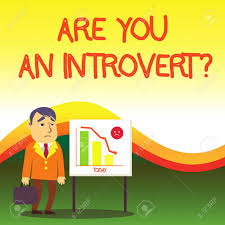 Introvert Chart Text Sign Showing Are You An Introvert Question Business Photo