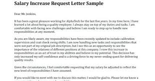 Raise Request Letter Template Salary Increase Letter From Employer To Template Sample Rece