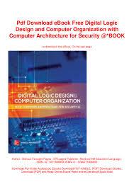 Contemporary Logic Design Ebook Pdf Download Ebook Free Digital Logic Design And Computer