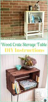 wooden crate end table wood crate storage table instructions wood crate furniture ideas projects wooden dog crate end table plans