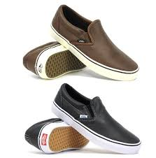 image is loading vans classic slip on aged leather mens womens