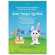 Party Invitation Mischievous Easter Bunny Egg Hunt