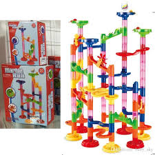track marble run blocks set 75 building blocks 30 race marbles diy construction toys fun kit for kids children new building blocks for toddlers childrens