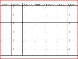 Sample Blank Calendar Unique 24 Week Printable Calendar Job Latter 5