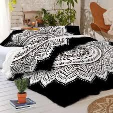 black white duvet cover. Interesting Black Black And White Duvet Cover Set Ombre Mandala Quilt Donna In Black White Duvet Cover