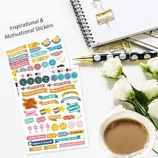 Mokani Gold Foil Planner Stickers, 1150+ Cute Colorful Stickers (21 Sheets)  for Calendar, Planner, Journal - Perfect