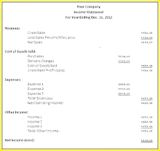 Monthly Profit And Loss Statement Template Monthly Income Report Template