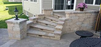 how to use stone pavers to build steps