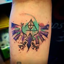 My Hylian Crest Watercolour Sketch Tattoo Zelda
