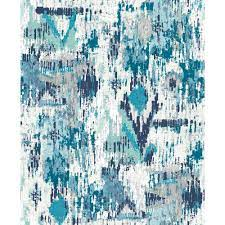 York Wallcoverings Blue Aztec Peel and ...