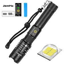 Đèn pin XHP50 5 chế độ siêu sáng chống thấm nước với màn hình hiển thị  nguồn điện và điện thoại