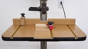 a drill press table