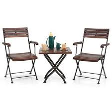 garden table and chair sets india. masai arm chair table set (teak finish) (black) garden and sets india d