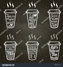 Vector Set Isolated Paper Cups Tea Stock Vector Royalty Free