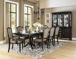 dining room furniture the sets country cream circle dark wood table antique french cherry chairs big