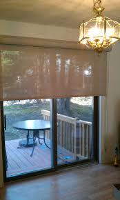 sliding doors functional window treatments bathroom solar roller shade on a sliding door