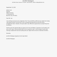 Resign Template No Notice Resignation Letter Example And Writing Tips