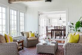 sunrooms decorating ideas. Beautiful Ideas Beach Style Sunroom With Simple Rattan Furniture Design Colonial  Reproductions For Sunrooms Decorating Ideas I