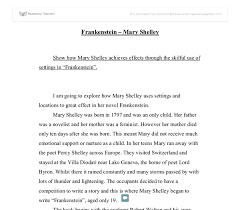 essay on frankenstein co essay on frankenstein