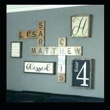initial wall decor decorations last name best scrabble ideas on family art diy on letter