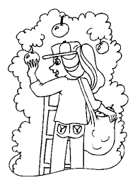 Apple Picking Coloring Pages Download Free Printable Coloring