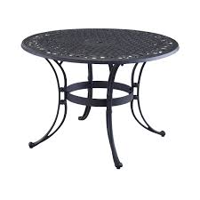 round outdoor metal table. 48-inch Round Black Metal Outdoor Patio Dining Table With Umbrella Hole N