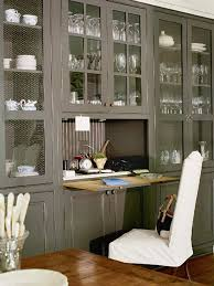 hidden office desk. View In Gallery Grey Kitchen Desk Hidden Office