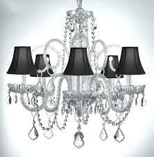 black shade crystal chandelier crystal chandelier with black shade with regard to elegant home black drum