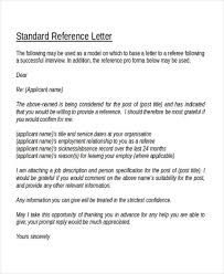 reference letter format e